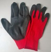 Перчатки кр-черные нейлоновые со сплошным напылением